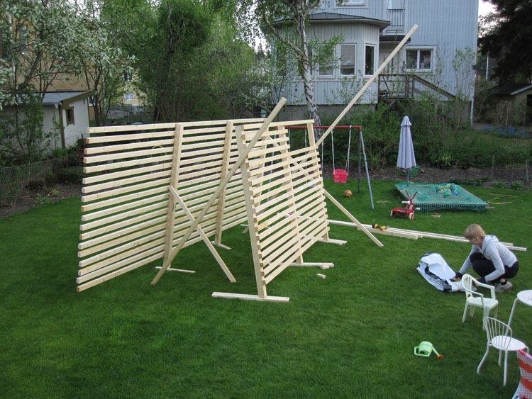 Funkisbygget: Vi bygger en spaljé